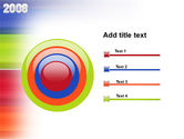 NYr 2008 in color PowerPoint Template#9