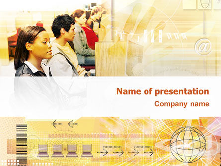 Technology and Science: Computer Network PowerPoint Template #02748