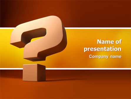 Question Mark In 3D PowerPoint Template, 02749, Consulting — PoweredTemplate.com