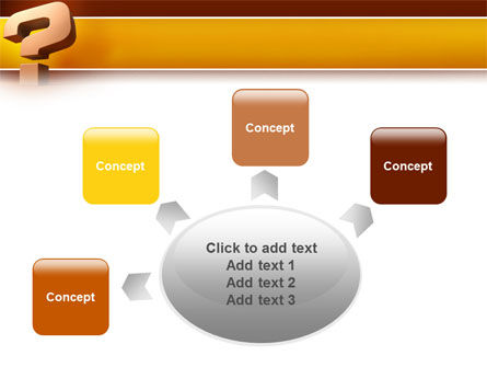 Question Mark In 3D PowerPoint Template Slide 7