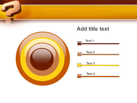 Question Mark In 3D PowerPoint Template Slide 9