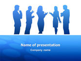 People: Conversation PowerPoint Template #02752