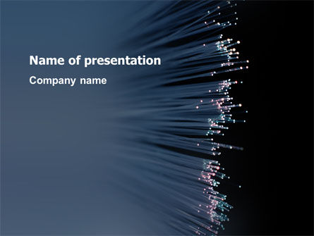 Telecommunication: Optic Fiber PowerPoint Template #02753