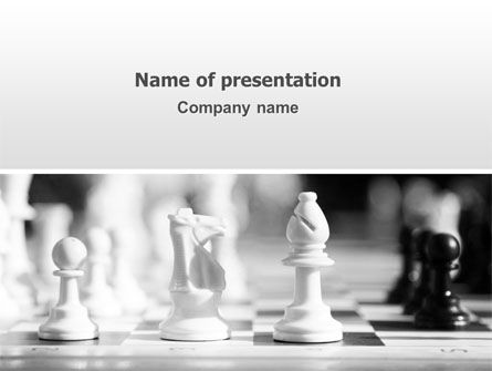 Strategic Position PowerPoint Template, 02755, Sports — PoweredTemplate.com