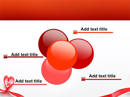 Heart Ribbon PowerPoint Template Slide 10