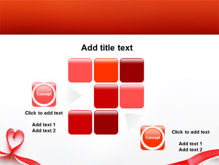 Heart Ribbon PowerPoint Template Slide 16