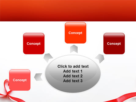 Heart Ribbon PowerPoint Template Slide 7