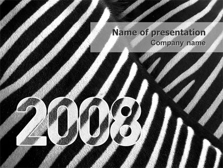 Business Concepts: Zebra 2008 PowerPoint Template #02762