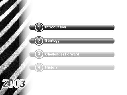 Zebra 2008 PowerPoint Template, Slide 3, 02762, Business Concepts — PoweredTemplate.com