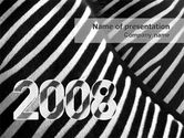 Business Concepts: Modello PowerPoint - Zebra 2008 #02762