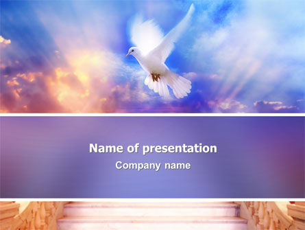Holy Benediction PowerPoint Template, 02764, Religious/Spiritual — PoweredTemplate.com
