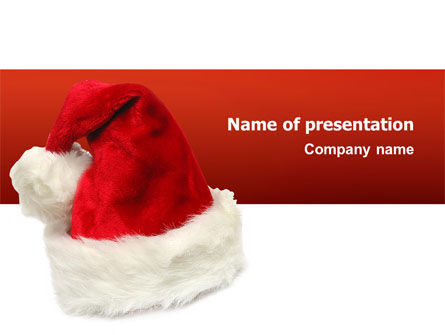 Holiday/Special Occasion: Santa Hat PowerPoint Template #02766