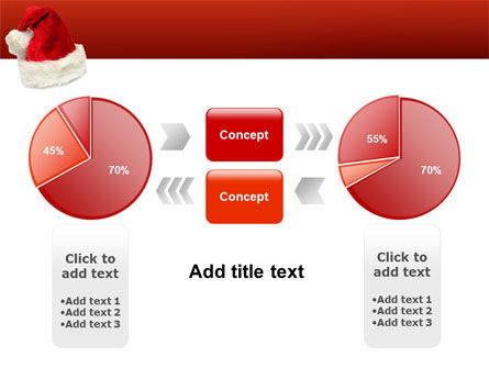 Santa Hat PowerPoint Template Slide 11