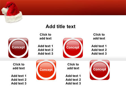 Santa Hat PowerPoint Template Slide 19