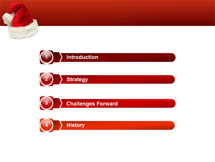 Santa Hat PowerPoint Template, Slide 3, 02766, Holiday/Special Occasion — PoweredTemplate.com