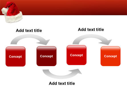 Santa Hat PowerPoint Template, Slide 4, 02766, Holiday/Special Occasion — PoweredTemplate.com