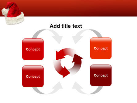 Santa Hat PowerPoint Template Slide 6