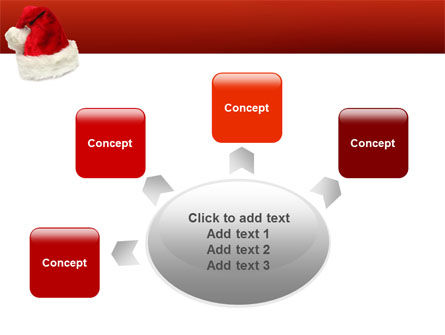 Santa Hat PowerPoint Template Slide 7