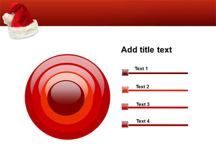 Santa Hat PowerPoint Template Slide 9