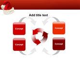 Santa Hat PowerPoint Template#6