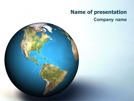 Animated Earth PowerPoint Template, 02767, Global — PoweredTemplate.com
