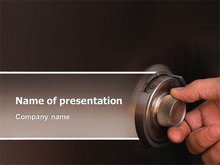 Financial/Accounting: Opening Safe PowerPoint Template #02770