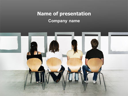 Art Gallery PowerPoint Template, 02773, People — PoweredTemplate.com