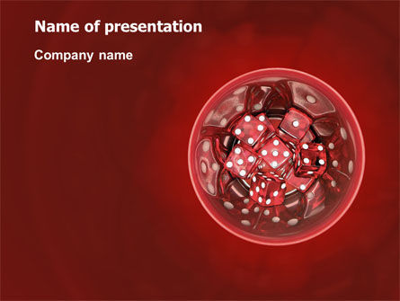 Red Dice PowerPoint Template, 02775, Art & Entertainment — PoweredTemplate.com