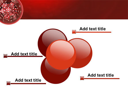 Red Dice PowerPoint Template Slide 10