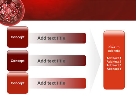 Red Dice PowerPoint Template Slide 12