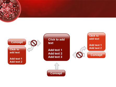 Red Dice PowerPoint Template Slide 13