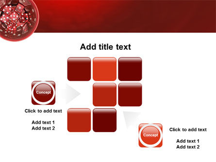 Red Dice PowerPoint Template Slide 16