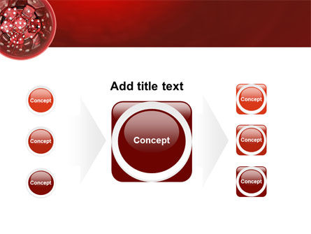 Red Dice PowerPoint Template Slide 17