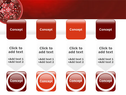 Red Dice PowerPoint Template Slide 18