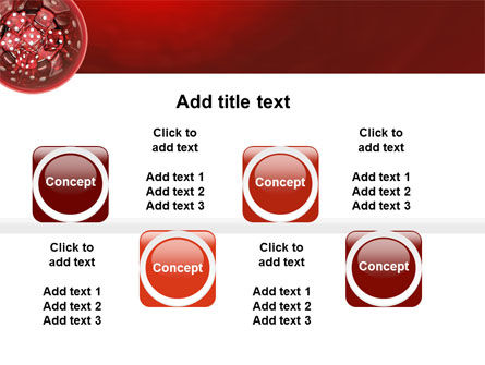 Red Dice PowerPoint Template Slide 19