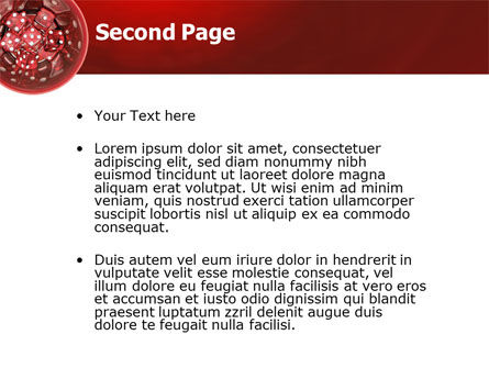 Red Dice PowerPoint Template Slide 2