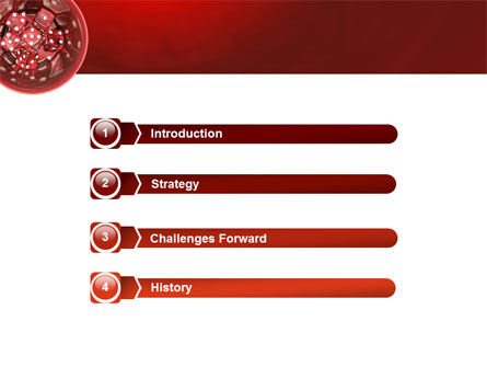 Red Dice PowerPoint Template Slide 3