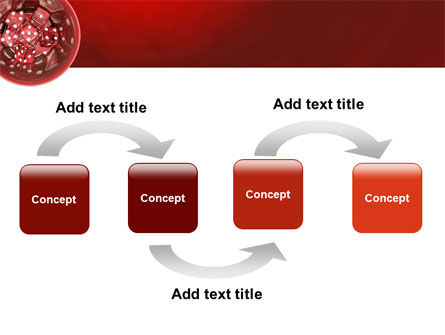 Red Dice PowerPoint Template, Slide 4, 02775, Art & Entertainment — PoweredTemplate.com