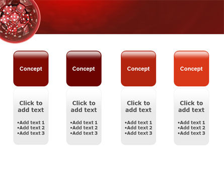 Red Dice PowerPoint Template Slide 5