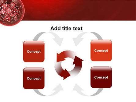 Red Dice PowerPoint Template Slide 6