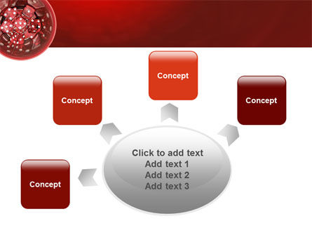 Red Dice PowerPoint Template Slide 7