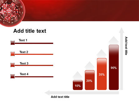 Red Dice PowerPoint Template Slide 8