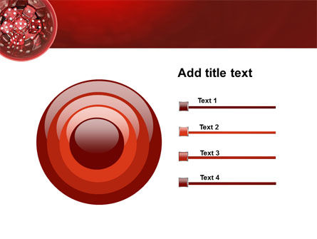 Red Dice PowerPoint Template Slide 9