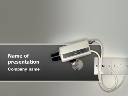 Technology and Science: Security Camera PowerPoint Template #02776