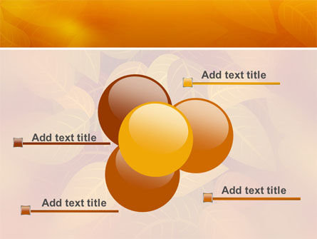 Yellow Brown Colored Leaves PowerPoint Template Slide 10