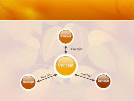 Yellow Brown Colored Leaves PowerPoint Template Slide 14