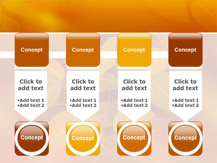 Yellow Brown Colored Leaves PowerPoint Template Slide 18
