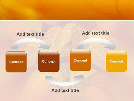 Yellow Brown Colored Leaves PowerPoint Template, Slide 4, 02778, Nature & Environment — PoweredTemplate.com