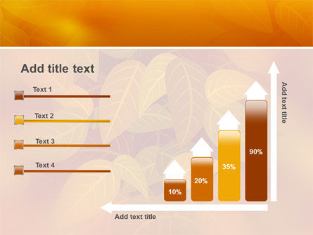 Yellow Brown Colored Leaves PowerPoint Template Slide 8
