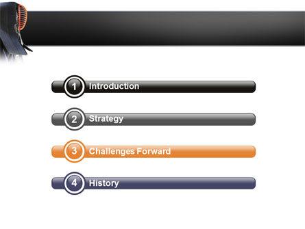 Kendo PowerPoint Template, Slide 3, 02779, Sports — PoweredTemplate.com